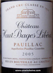 Haut Bages Liberal 2005