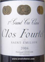 Clos Fourtet1er Grand Cru St Emilion 2004