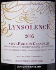 Lynsolence St Emilon Grand Cru 2005