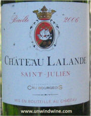 Chateau LaLande St Julien Crui Bourgeois 2006