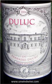 Duluc de Branaire Ducru St Julien 2006