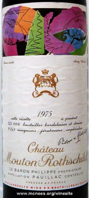 Chateau Mouton Rothschild 1975