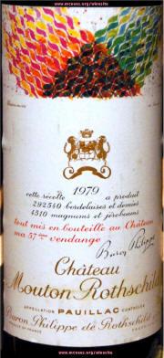 Chateau Mouton Rothschild 1979 label