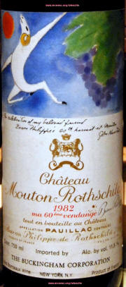 Chateau Mouton Rothschild Label Library On McNeesorg Winesite