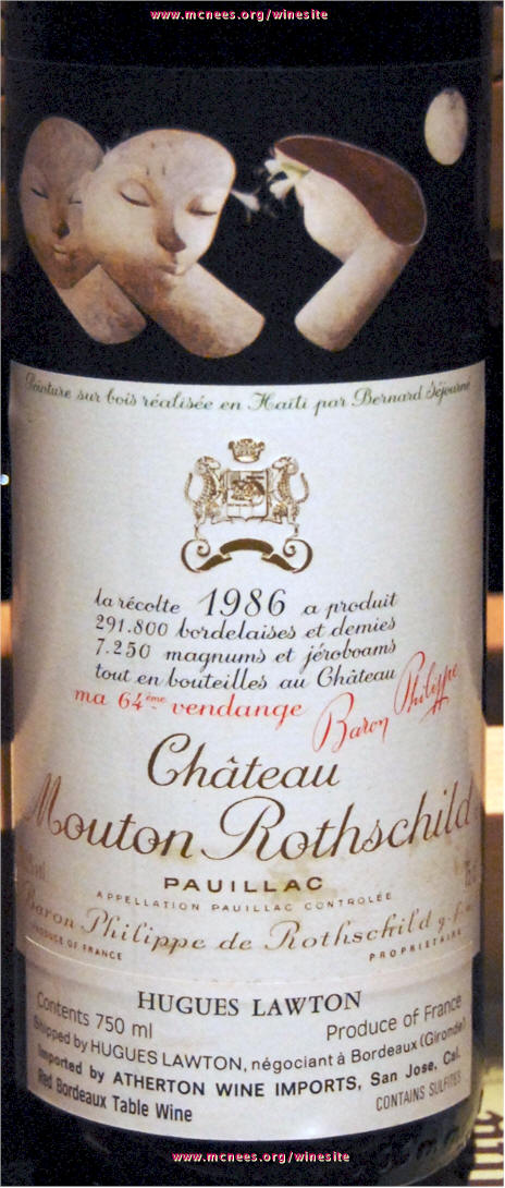 Chateau Mouton Rothschild Label Library