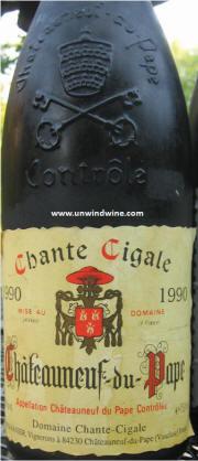 Chante Cigale Chateauneuf du Pape 1990