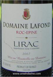 Domaine LaFon Roc-Epine Lirac 2007