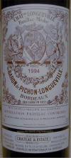 Chateau Pichon Longueville Baron 1994