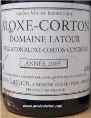 Alexis Corton Domaine Latour 2005