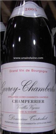 2005 Domaine Tortochot Gevrey-Chambertin Champerrier Vieilles Vignes