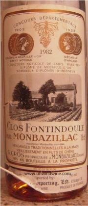 Clos Fontidoule Monbazillac 1982