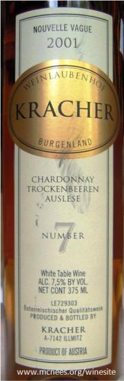 Kracher Chardonnay TBA #7 2001 label