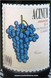 Acinum Amarone Della Valpolicella Classico 1990