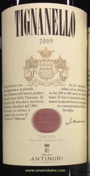Antinori Tignanello 2009