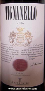 Antinori Tignanello 2006