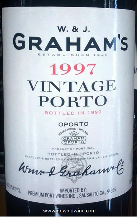 1977 W & J Grahams Vintage Port,