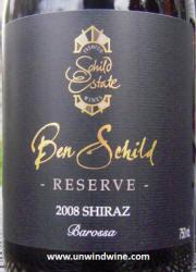 Ben Schild Reserve Shiraz 2008