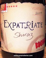 Corrina Rayment Shiraz Expatriate Oliver's Taranga 2005