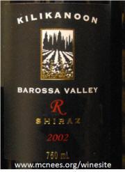 Kilikanoon R Reserve Barossa Valley Shiraz 2002