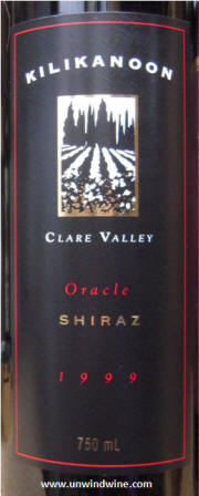 Kilikanoon Oracle Shiraz 1999 label