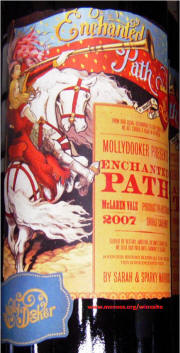 Mollydooker Enchanted Path McLaren Vale Shiraz cabernet 2007 label