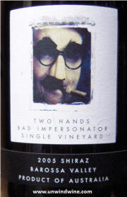 Two Hands Bad Impersonator Barossa Shiraz 2005