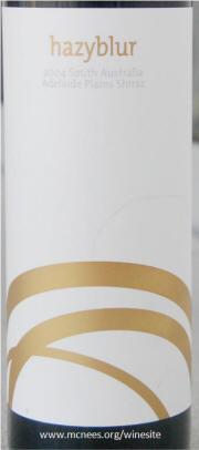 Hazy Blur Adelaide Plaines Shiraz 2004 Label