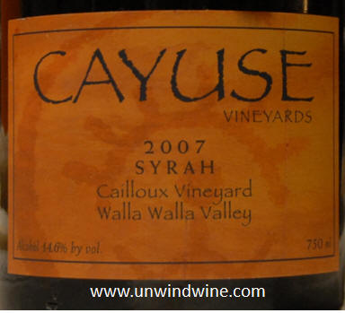 Unwindwine bordeaux 2003 horizontal tasting on the for Cayuse vineyards