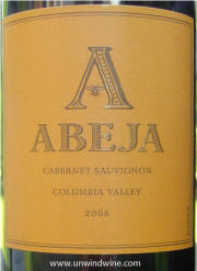 Abeja Columbia Valley Cabernet Sauvignon 2006