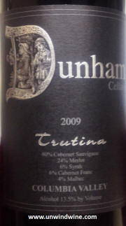 Dunham Cellars Trutina Red Wine 2009