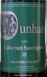 Dunham Cellars III Columbia Valley Cabernet Sauvignon 1997