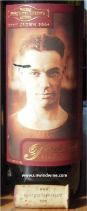 Spring Valley Vineyards Frederick Red Wine