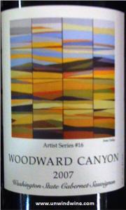 Woodward Canyon Artist Series #16 Cabernet Sauvignon 2007