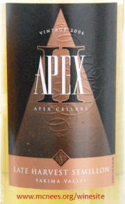 Apex Cellars Yakima Valley Late Harvest Semillon 2006