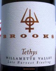 Brooks Tethys Willamette Valley Late Harvest Riesling
