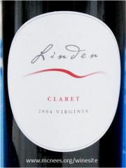 Linden Virginia Claret 2004 on McNees.org/winesite