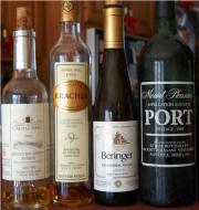 Holiday dinner desert wine flight