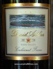 David Arthur Napa Valley Cabernet Franc 2010 - label
