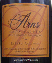 Arns Estate Grown Napa Valley Cabernet Sauvignon 2007