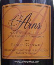 Arns Estate Grown Napa Valley Cabernet Sauvignon 2007