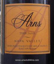 Arns Napa Valley Syrah 2008